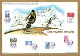 """(Tirage 3000 Ex) """"  LES ETAPES REINES / TOUR DE FRANCE (1981) """" Sur Feuillet CEF Spécial De 4 Pages. Parfait état - Cyclisme"""