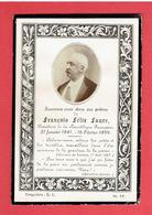 FAIRE PART DECES DE FELIX FAURE 1841 1899 PRESIDENT DE LA REPUBLIQUE FRANCAISE AFFAIRE DREYFUS EMILE ZOLA - Documenti Storici