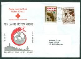 Austria 1985 1980 Liberty WW2 Duty Customs Costume Red Cross Letter Cover Abroad - 1945-.... 2ème République