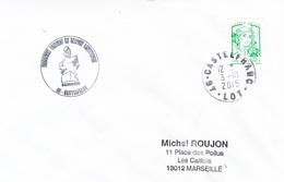 146 CASTELFRANC-3/10/2015-Monument Tombeau Du Sergent LAVAYSSIERE - Postmark Collection (Covers)