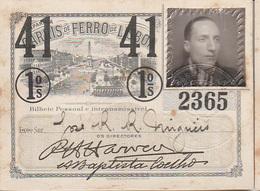 Portugal - Carris De Ferro De Lisboa Passe Semestral 1941 - Autres