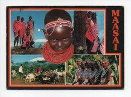Kenya: Maasai, Femme Avec Collier De Perles, Chevre, Timbre Papillon, AIDS (18-3139) - Kenya