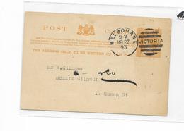 Post Caed Victoria 1893 Melbourne , 1p, Commercial Travellers Club - 1850-1912 Victoria