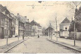 62 Laventie Rue Des Clinques Cpa Carte Animée Animation Cachet Laventie 1907 - Laventie