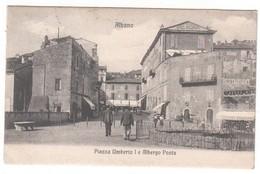 Roma-albano Laziale-grottaferrata-albergo Posta-viagg.1910-cart. Di 108 Anni - Italia