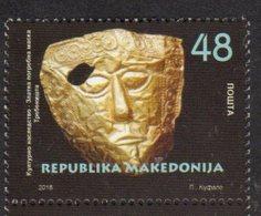 MACEDONIA , 2018, MNH, CULTURAL HERITAGE, MASKS, 1v - Cultures