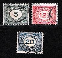 NEDERLAND 1921 Cijfers 107-109 Used #1091 - Period 1891-1948 (Wilhelmina)