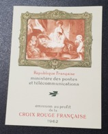 Carnet Croix Rouge De 1962  Neuf ** à 18% De La Cote, Etat TTB. - Booklets