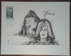 FDC 1968 - YT N°1579 - JEANNE D'ARC - VAUCOULEURS - Sur GRAVURE SAINSON - FDC