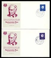 Bund MiNr. 305-06 Ersttagsbriefe/ FDC (AZ2613 - [7] República Federal
