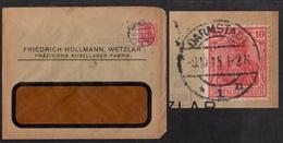 PERFIN - PERFORE - FIRMENLOCHUNG AUF BRIEF / 1915 DARMSTADT (ref 5386) - Alemania