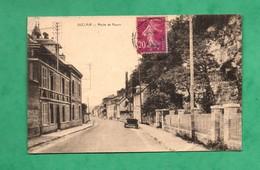 76 Seine Maritime Duclair Route De Rouen ( Carte Avec Pli Voir Scans Vendue Dans L ' Etat ) - Duclair