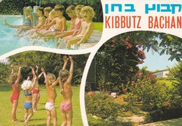 KIBBUTZ BACHAN. MULTI VIEW VUE VISTA. PALPHOT ED. CIRCULEEE ISRAEL TO ARGENTINE  CIRCA 1977- BLEUP - Israël