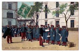 2794 - Militaria - Infanterie , Départ De Permissionnaires - Aqua-Photo à Paris - N°3586 - - Regimientos