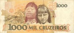 BILLET  BRESIL   1000   CRUZEIROS - Brasile