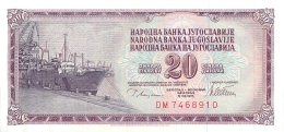 BILLET   YOUGOSLAVIE  20  DINARA  1978 - Yougoslavie
