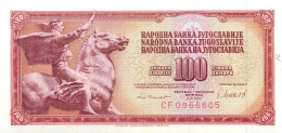 BILLET   YOUGOSLAVIE  100  DINARA  1981 - Yugoslavia