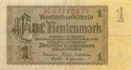 BILLET  1 RENTENMARK - [ 4] 1933-1945 : Third Reich