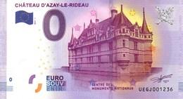 Billet Touristique 0€ Château D'Azay Le Rideau 2017-1 (37) - EURO