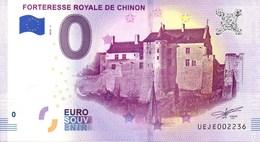 Billet Touristique 0€ Forteresse De Chinon 2018-1 (37) - EURO