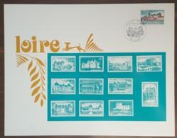 FDC 1973 - YT N°1758 - CHATEAU DE GIEN - Sur Document SAINSON - 1970-1979