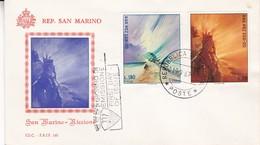SAN MARINO~RICCIONE. FDC. OBLITERE 1967-TBE- BLEUP - FDC