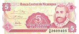BILLET NICARAGUA 5 CENTAVOS - Nicaragua