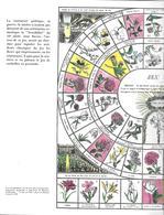 Jeu Instructif Des Fleurs (Jeu De L'oie)  (publicité Médicale Strecipen - Lab. Clin-Comar ) - Group Games, Parlour Games