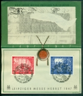 Deutschland Sonderkarte 1947 Leipziger Messe Herbst 1947 - American,British And Russian Zone