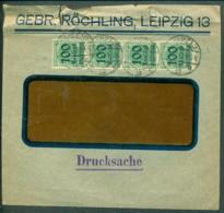 Deutsches Reich 1923 Brief Von Röchling Leipzig Mit 400.000 Frankiert Obenseite Beschädigt - Germany