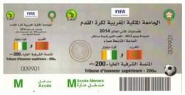 Billet Match International Football  CAF. Maroc - Côte D'Ivoire 2012. Tribune D'Honneur Supérieure - Otros