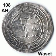 Iraq , Irak 1 Dirham 108 AH Waset Silber Münze Coin - Iraq