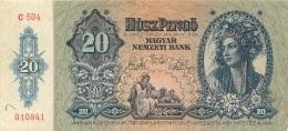 BILLET HONGRIE  1941   20  PENGO - Hungary