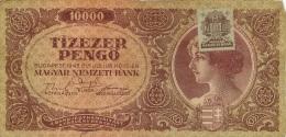 LOT DE 3 BILLETS HONGRIE  1946  10000   TIZEZER MILPENGO - Hungary