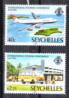 Seychelles  - 1980. Aereo E Bus Per I Turisti. Plane And Bus For Tourists. MNH - Bus