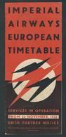 IMPERIAL AIRWAYS EUROPEAN TIMETABLE 24 NOVEMBER 1935 - Timetables