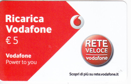 Italy , Ricarica Vodafone , Card ,  Used - Italy