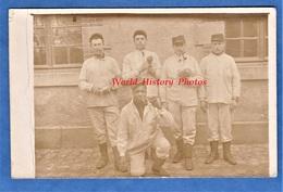 CPA Photo - ARGENTAN - Beau Portrait De Soldat Du 104e Régiment - 1916 - WW1 Poilu Militaire Noir Pipe Black Soldier - Weltkrieg 1914-18