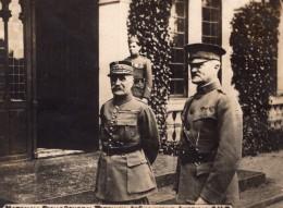 Marechal Foch Et General Pershing A Chaumont WWI Ancienne Photo 1914-1918 - Guerre, Militaire