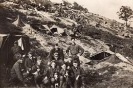 Soldats Americains? France Campement A Flanc De Colline WWI Ancienne Photo 1914-1918 - Oorlog, Militair