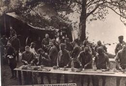 Vosges Lac De Longemer Repas Des Soldats Americains WWI Ancienne Photo 1914-1918 - Oorlog, Militair