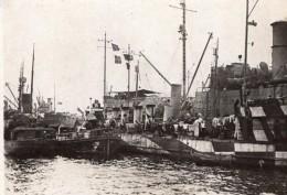 Brest Navires De Guerre Americains WWI Ancienne Photo 1914-1918 - War, Military