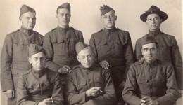 Groupe De Soldats Americains? WWI Ancienne Carte Photo 1914-1918 - Guerre, Militaire