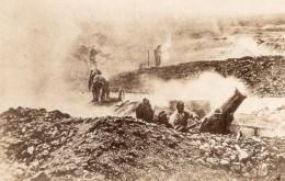 Mortier De Tranchee 220 En Action WWI Ancienne Photo 1914-1918 - War, Military