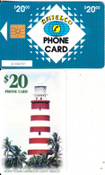 BAHAMAS ISL.(chip) - Lighthouse, Hope Town Harbour/Abaco(BAH C18), Chip GEM1, Used - Bahamas