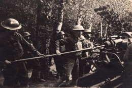 Lenoncourt U.S. Army Coast Artillery En Action Howitzer WWI Ancienne Photo 1914-1918 - War, Military