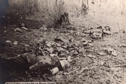 Oise Roye Cadavre De Soldat Allemand WWI Ancienne Photo 1914-1918 - War, Military