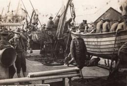 Troupes Americaines Sur Navire De Guerre WWI Ancienne Photo 1914-1918 - War, Military