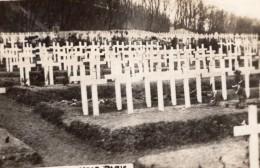 Cimetiere Americain Pres De Paris Tombes WWI Ancienne Photo 1918 - War, Military
