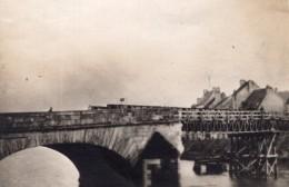 Chateau Thierry Pont Bombarde Par Les Americains WWI Ancienne Photo 1918 - War, Military